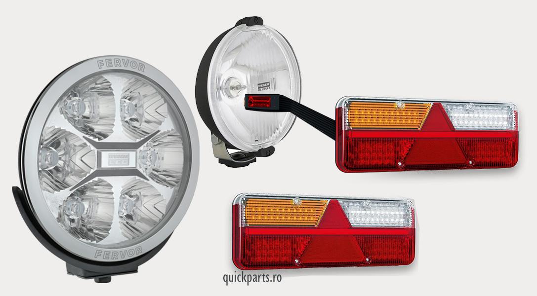 lampi si proiectoare pentru camioane