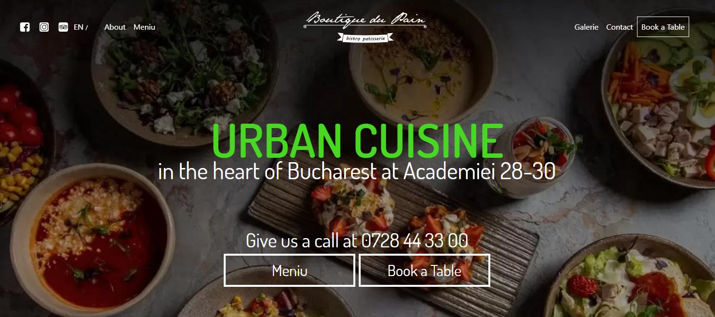 Restaurant BoutiqueDuPain din Bucuresti Centru Exceleaza in Calitate